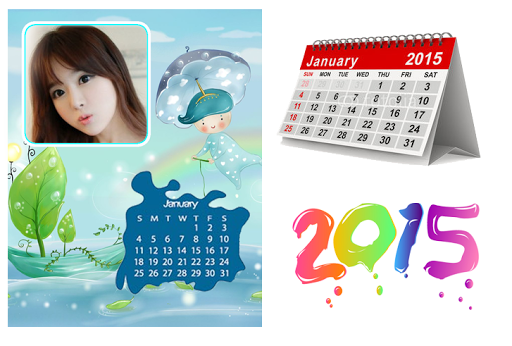 new year frames calendar 2015