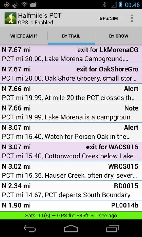 Halfmile's PCT- screenshot