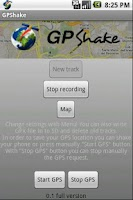 Screenshot of GPShake Lite