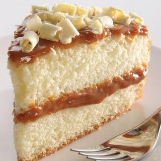 Vanilla Cake with Caramel Icing