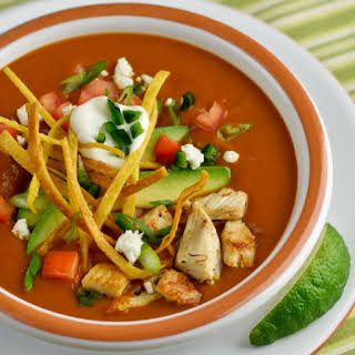 Mexican Tortilla Soup with Frizzled Tortillas.
