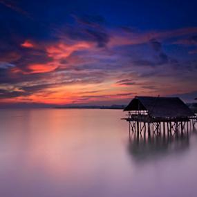 sunrise at tanjung kait west java by Anton Subiyanto - Landscapes Beaches ( water, reflection, dawn, sunset, twilight, cloud, sunrise, beach, landscape, dusk )