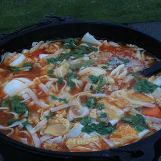 Thai Chicken Soup - An Exotic Dutch Oven Dish.
