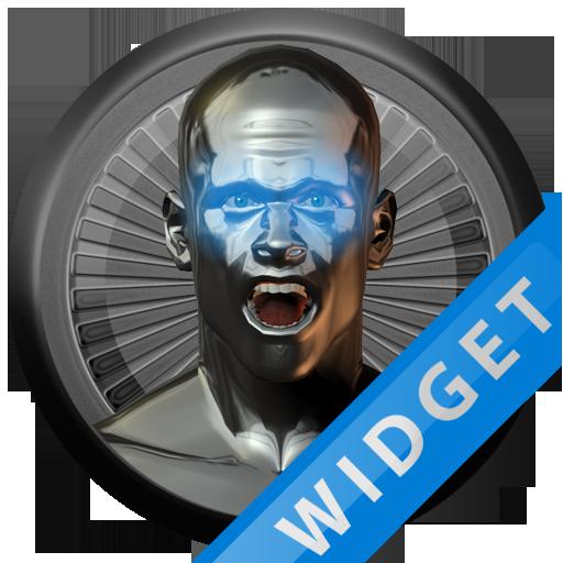 Poweramp Widget Lightblue Atla