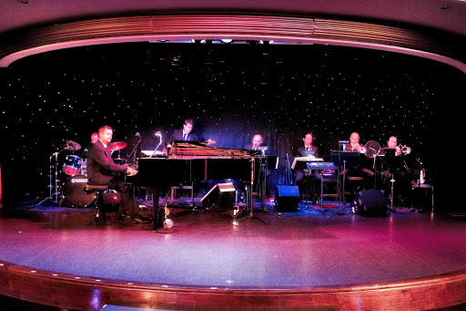 Azamara-Ship-Entertainment-Band - A traditional big band performance during an Azamara cruise.