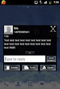 GO SMS Theme White Black - screenshot thumbnail
