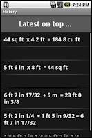 Screenshot of Dimensional Calculator