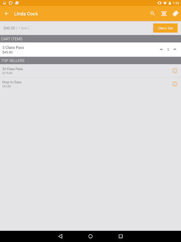 android MINDBODY Express Screenshot 6