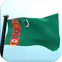 Turkmenistan Flag 3D Wallpaper icon