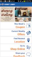 Screenshot of Hobby Lobby Stores