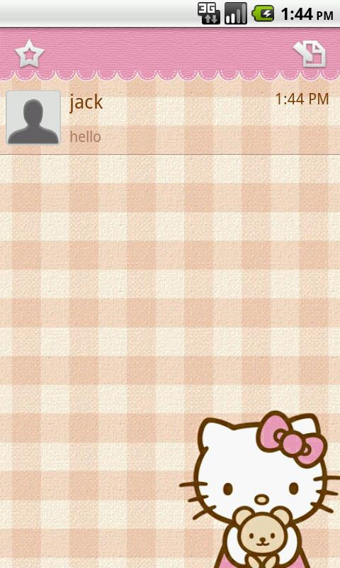 Handcent Skin (Hello Kitty)- screenshot