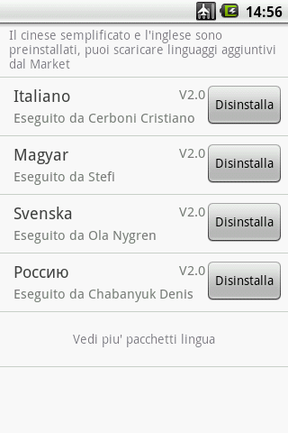 Easy SMS Italian language - screenshot