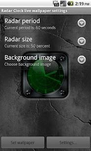 Radar Clock Live Wallpaper- screenshot thumbnail
