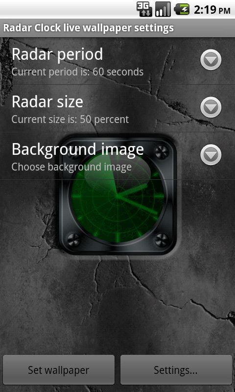 Radar Clock Live Wallpaper- screenshot