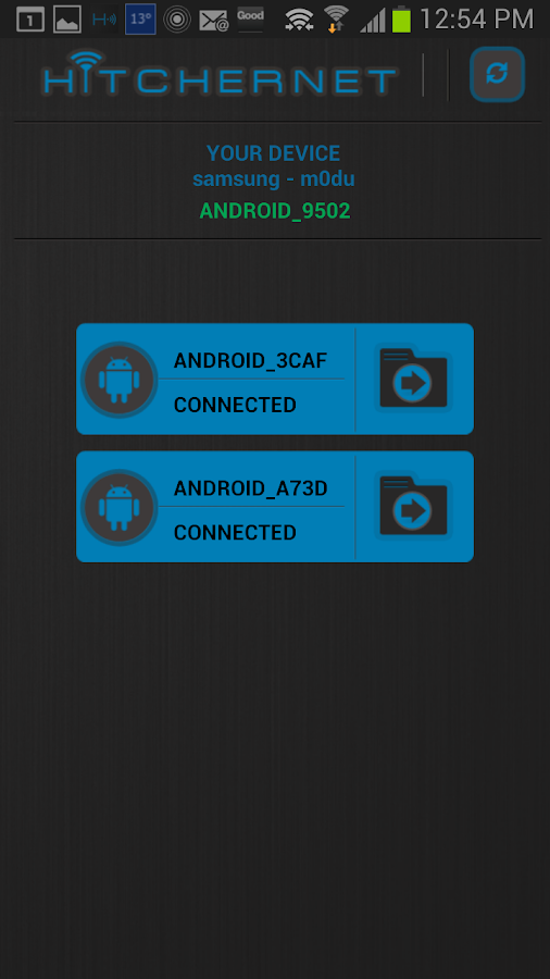 HitcherNet | WiFi Direct Share- screenshot