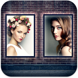 Double Photo Hoardings Icon