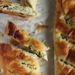Spinach and Cheese Phyllo Pie.