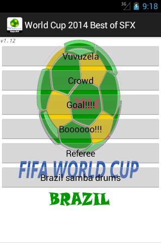 World Cup 2014 SFX