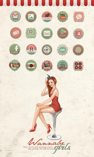 Wannabe girls Pin-up girl icon