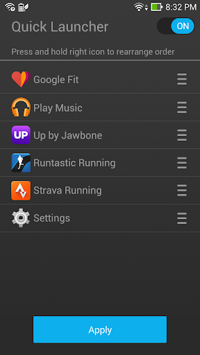 Quick Launcher - Android Wear