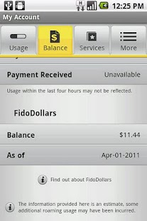 Fido My Account - screenshot thumbnail