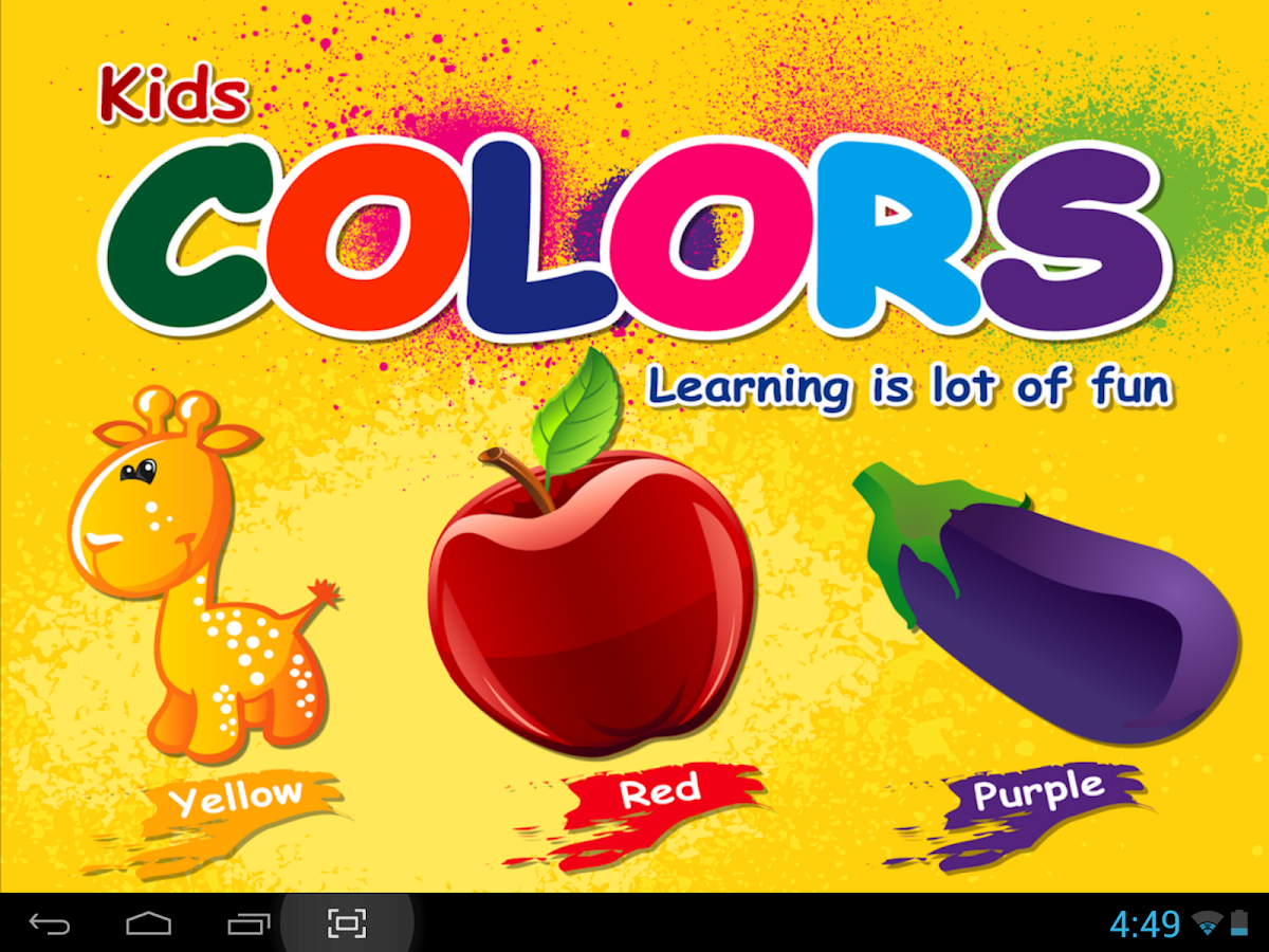 Kids Learn Colors - Android app on AppBrain
