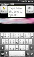 Screenshot of DroidSpeaker