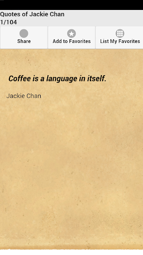 Quotes of Jackie Chan