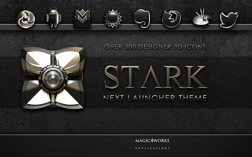 Next Launcher Theme Stark