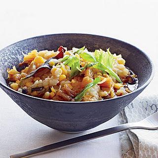Rice and Sweet Corn Porridge with Dried Scallops