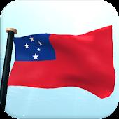 Samoa Flag 3D Free Wallpaper