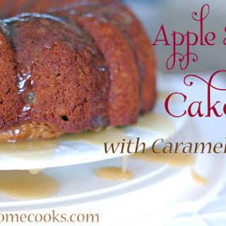 Apple Spice Cake with Caramel Glaze.