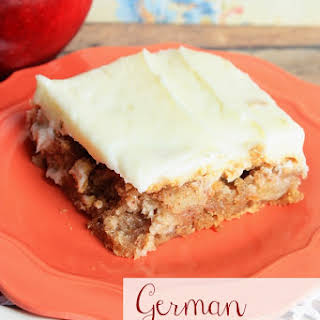 German Apple Cake with Cream Cheese Frosting.