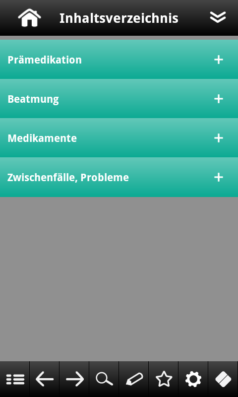Anästhesie pocketcards - screenshot