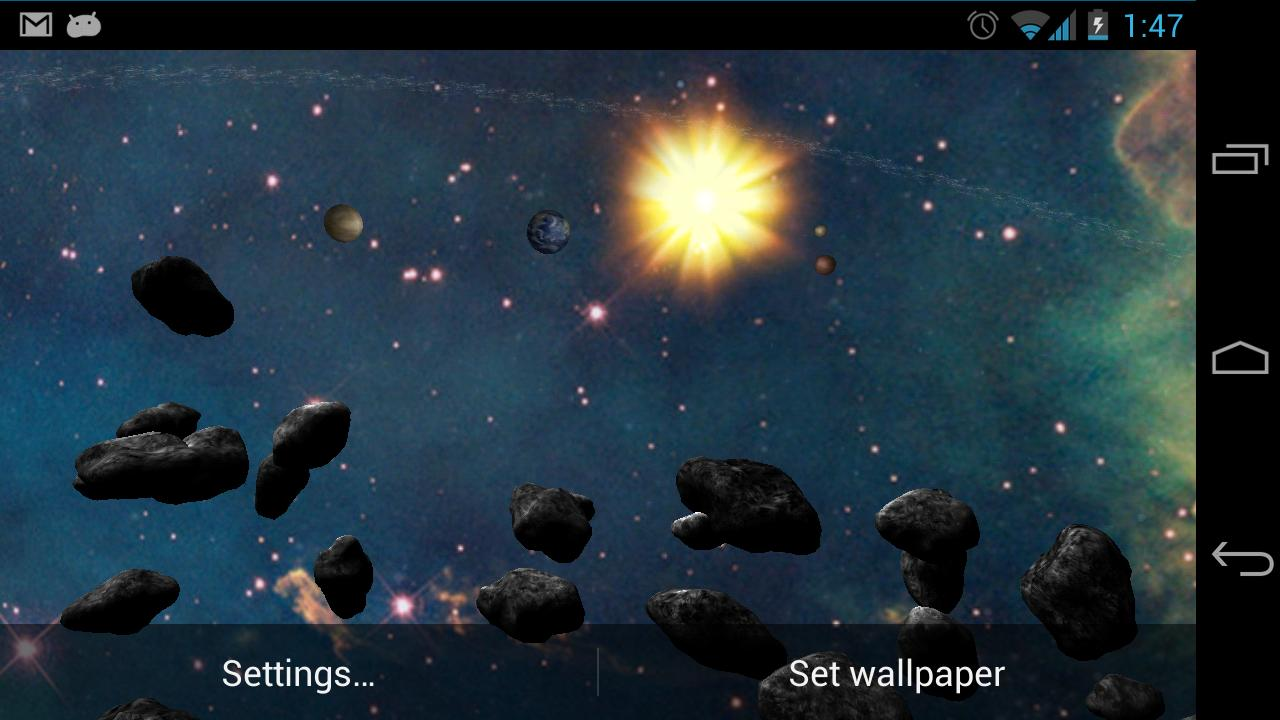 Asteroid Belt Live Wallpaper- screenshot