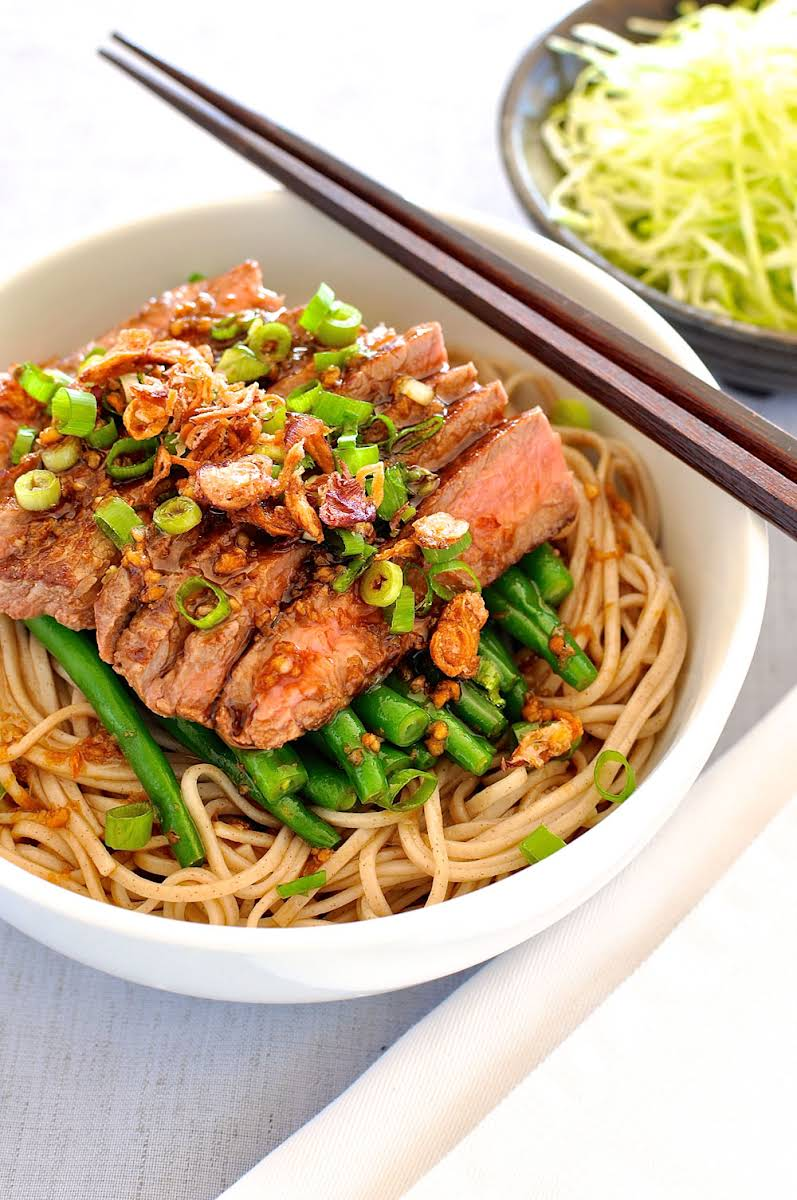 Soba with Green Beans and Beef Recipe