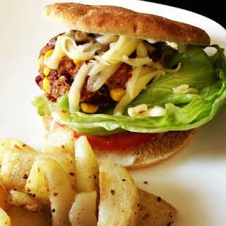 Black Bean Burger & Baked Fries.
