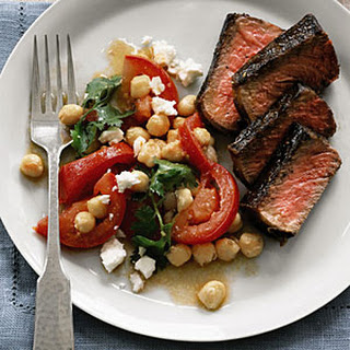 Steak with Chickpeas, Tomatoes, and Feta
