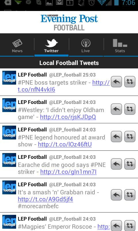 LEP Football App - screenshot