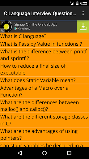 C Interview Question Answers