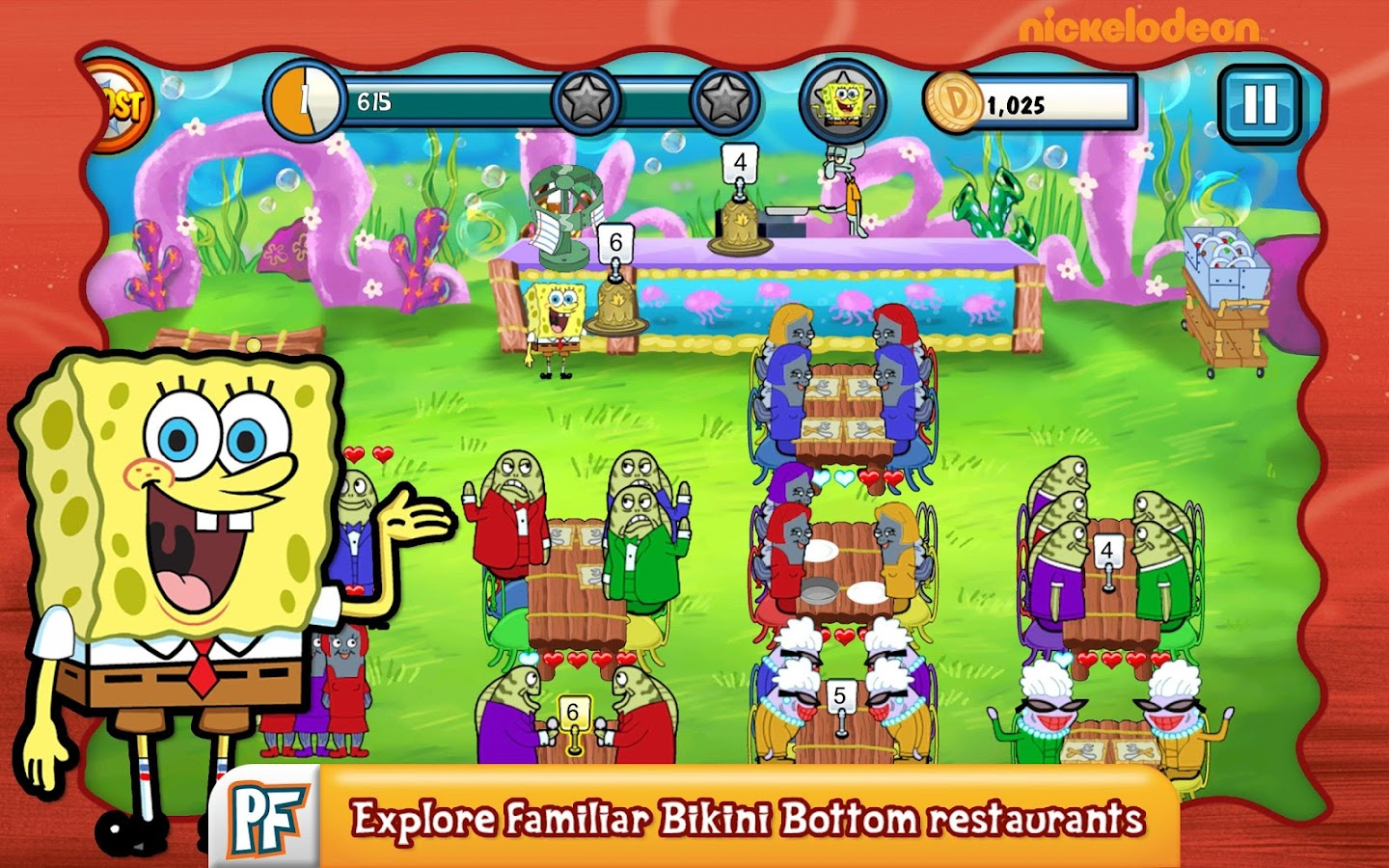 SpongeBob Diner Dash - screenshot
