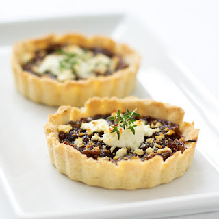Balsamic Onion Tart with Goat Cheese and Thyme.