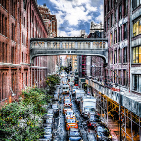 NYC by Joe Palisi - City,  Street & Park  Street Scenes ( hdr, cars, buildings, nyc, city )