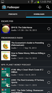 Podkeeper Free podcast player- screenshot thumbnail