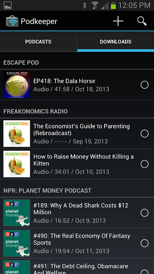 Podkeeper Free podcast player - screenshot
