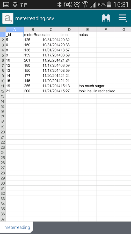 blood glucose tracking log