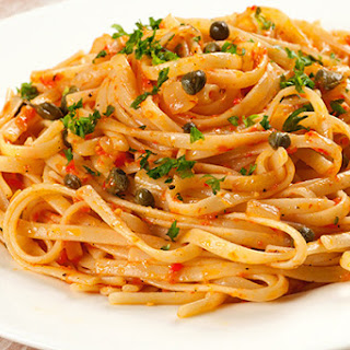 Linguine with Roasted Red Pepper Sauce.