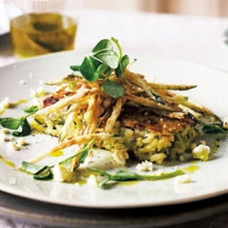 Risotto Cakes With Courgette Fries