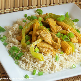 Pork in Thai Red Curry Sauce