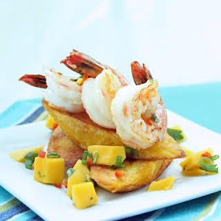 Caribbean Shrimp w/ Plantains & Mango Salsa (Paleo).